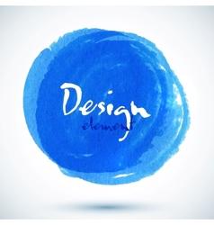 Bright blue watercolor circle vector