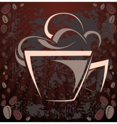 coffee cup design vector image vector image