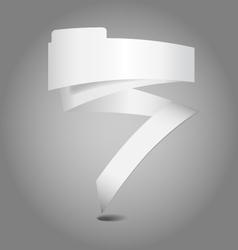 Empty text ribbon vector image vector image