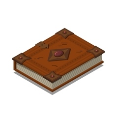 Old book or tutorial Isometric flat vector image vector image