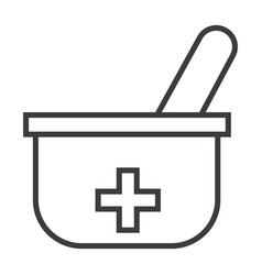 pestle and mortar vector image vector image