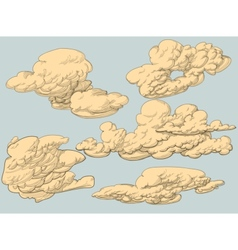 Retro style clouds vector image vector image