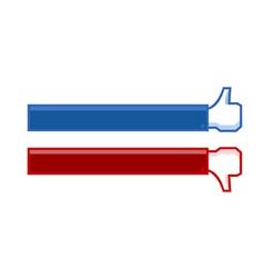 thumb up an thumb down banner vector image vector image