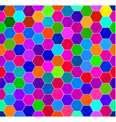 Abstract colorful honeycomb pattern vector