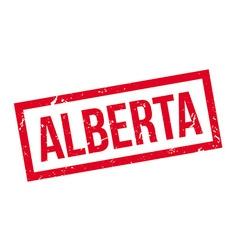 Alberta rubber stamp vector