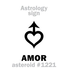 Astrology asteroid amor vector