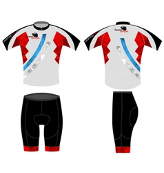 Bike shirt poly color vector