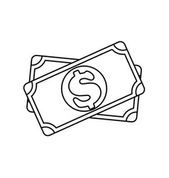 billet of money vector image
