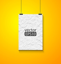 Blank picture on a concrete wall closeup vector