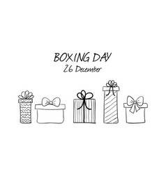 boxing day hand drawn banner vector image