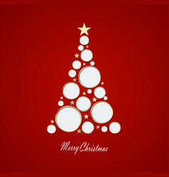 christmas card with tree mad vector image