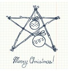 Christmas doodle decoration vector