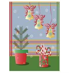 Christmas holidays decorations snowflakes vector