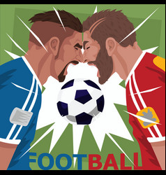 Close up of screaming soccer players vector