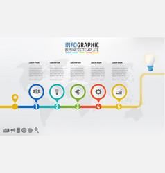Company timeline infographic template design with vector