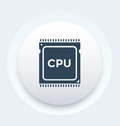 cpu processor icon pictogram vector image