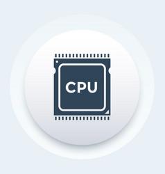 Cpu processor icon pictograph vector