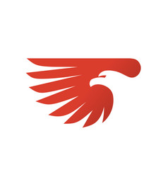 eagle head with wing vector image