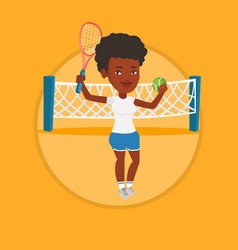 Female tennis player vector