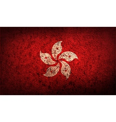 Flag of Hong Kong with old texture vector image