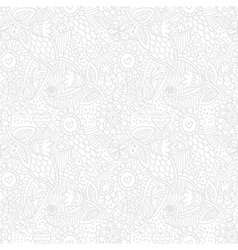Floral seamless retro pattern vector