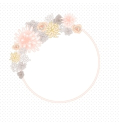 Flower round circle card template vector