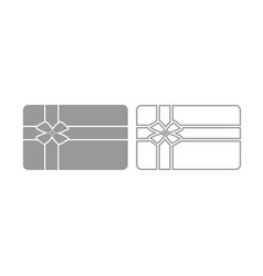 gift card icon grey set vector image