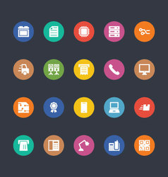 Glyphs Colored Icons 3 vector