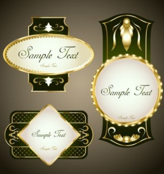 gold framed labels set vector image