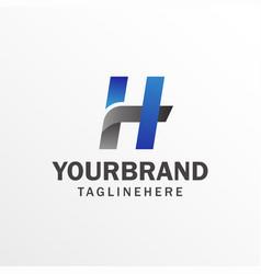 h letter logo design template modern letter logo vector image