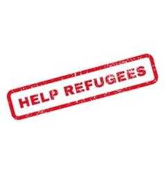 Help Refugees Text Rubber Stamp vector