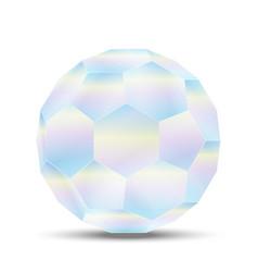 holographic geometric shape volumetric neon vector image