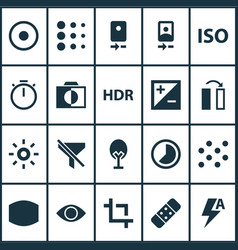 Image icons set includes icons such as plaster vector