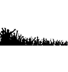 Isolated music concert crowd with hands in air vector
