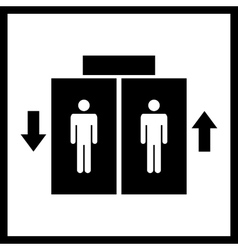 Lift or elevator icon vector image