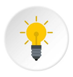 Light bulb icon circle vector
