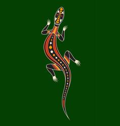 Lizard aboriginal art style vector