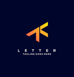 Logo abstract letter t gradient colorful vector