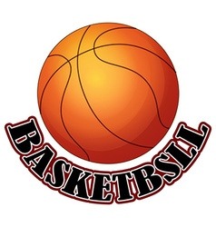 Logo design with basketball vector