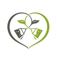 love green tea sign vector image