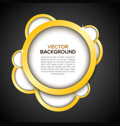 Luxury background in black vector image