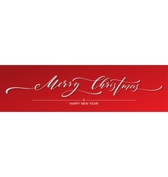 Merry Christmas Hand lettering Greeting Card with vector image