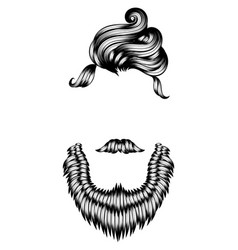 Modern male hairstyles and beards vector