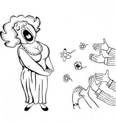 opera singer vector image