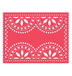 Papel picado templater design mexican art vector