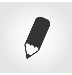 Pencil icon flat design vector image