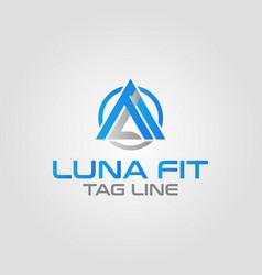 Physical fitness letter lf logo design template vector