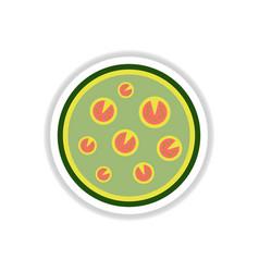Pizza simple pizza icon top vector