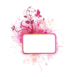 Popart floral frame vector