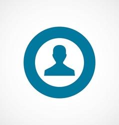 Profile bold blue border circle icon vector